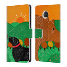 OFFICIAL STEPHEN HUNECK DOG'S FRIENDS LEATHER BOOK CASE FOR MOTOROLA PHONES
