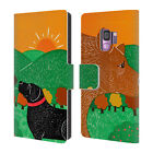 OFFICIAL STEPHEN HUNECK DOG'S FRIENDS LEATHER BOOK CASE FOR SAMSUNG PHONES 1