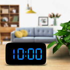 Large Screen Digital LED Alarm Clock Snooze USB/Battery Powered Black Watching