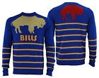 Forever Collectibles NFL Men's Buffalo Bills Retro Stripe Crew Neck Sweater