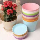 Colorful Flower Pots Gloss resin Plant Planter Saucer Tray Indoor Outdoor Garden