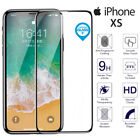 For iPhone XS Genuine Tempered Glass 3D Curved Full Cover Screen Protector Black