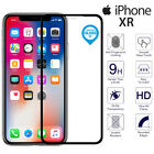 For iPhone XR Genuine Tempered Glass 3D Curved Full Cover Screen Protector Black