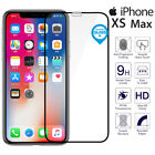 For iPhone XS Max Genuine Tempered Glass 3D Full Cover Screen Protector Black