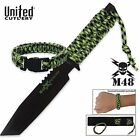 Survival Knife and sheath with Tactical Para cord Bracelet M48