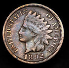 1892 P Indian Head Pennny VF Nice Coin Colorful Pastel Hues No Reserve