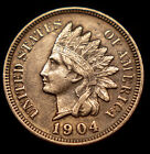 1904 P Indian Head Pennny XF+ AU+ Sharp Coin No Reserve