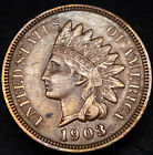 1903 P Indian Head Pennny AU XF Sharp Great Coin No Reserve