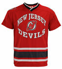 New Jersey Devils NHL Boys Girls Youth Short Sleeve V-Neck Knit Shirt, Red $8.49 USD on eBay