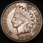 1904 P Indian Head Pennny AU XF Sharp Bold Liberty Great Coin No Reserve