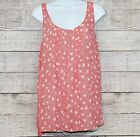Torrid Womens Plus 2X Sleeveless Orange Floral Crossover Back Button Down Front