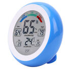 New Indoor Touch Screen Digital Desk Stand Thermometer Hygrometer Blue 3x AAA