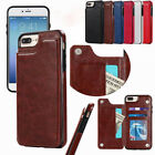 For iPhone 5 6s 7 Plus X Xs Max Leather Phone Case Cover Flip Wallet Card Holder
