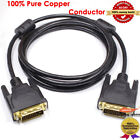 6FT DisplayPort DP to DVI Male to Male Cable Wire Adapter Gold Plated 1080P HD