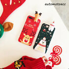 Christmas Snowman Santa Phone Soft Case Cover For iPhone X Xs Max XR 6/7/8 Plus