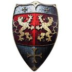 BestSaller 49 x 32 cm Wooden Lion Knights Shield with 2 Leather Handle