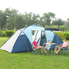Family Camping Tents 4 Person 2+1 Room Waterproof 3 Season Hiking Backpack Tent