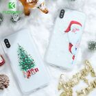 Iphone Case Christmas Cover 7 Plus 6 8 Phone X 6s 5 5s Glitter Xs Holiday Design