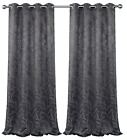 2 Pack: Arbor 100% Blackout Floral Thermal Grommet Curtains - Assorted Colors