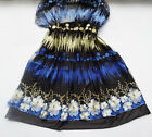 Black Tulle Blue Gold Bead Lace Fabric Embroidery Wedding Dresss Gown Dress
