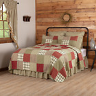 New Primitive Sage Green Red PRAIRIE WINDS PATCHWORK Block Quilt Bedding CHOICE image