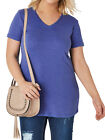YOURS V-Neck T-Shirt Top 16 - 36 in Blue Black White Purple Pink Fuschia Red NEW