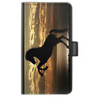 HORSE PONY S7 S8 S9 NOTE 9 LEATHER CASE SIDE FLIP WALLET COVER FOR SAMSUNG PHONE