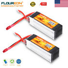2 x FLOUREON 14.8V 2200mAh 4S45C T-Plug Li-Polymer Battery For RC Airplane Drone