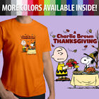 Charlie Brown Snoopy Thanksgiving Classic Peanuts Unisex Mens Tee Crew T-Shirt image
