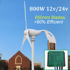 New 3 blades 12v 24v horizontal 800w wind turbine generaror