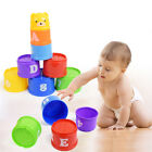 9PCS Early Education Baby Kids Toys Figures Letters Folding Stack Cup Tower US