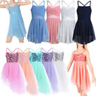 Girls Lyrical Dress Ballet Latin Dance Wear Leotard Camisole Tutu Skirt Costumes