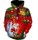 Christmas 3D Printed Santa Claus Sweater Hoodie Large Size Digital Print Sweater