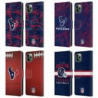 OFFICIAL NFL 2018/19 HOUSTON TEXANS LEATHER BOOK CASE FOR APPLE iPHONE PHONES