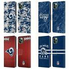 OFFICIAL NFL 2018/19 LOS ANGELES RAMS LEATHER BOOK CASE FOR APPLE iPHONE PHONES