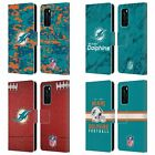 OFFICIAL NFL 2018/19 MIAMI DOLPHINS LEATHER BOOK WALLET CASE FOR HUAWEI PHONES
