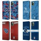 OFFICIAL NFL 2018/19 TENNESSEE TITANS LEATHER BOOK CASE FOR APPLE iPHONE PHONES