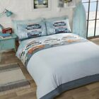 CAMPERVAN Retro Fun Quirky Duvet Cover/Quilt Cover Set Bedding Bed Linen Multi