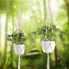 Indoor Outdoor Hanging Planter Pot Basket Jute Rope Vintage Macrame Plant Hanger