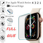 For Apple Watch Series 4 3 2 1 Full Cover Tempered Glass Screen Protector Film