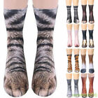 3D Animal Paw Cat Tiger Feet Paw Print Foot Socks Elastic Hosiery Cotton Socks
