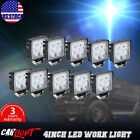 10x4inch 27W Spot Beam Square LED Work Light Bar SUV  Truck Boat UTE 12/24V