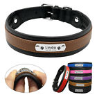 Large Dog Collars Personalized Nameplate Optional Engraved ID Tag 6 Color&3 Size