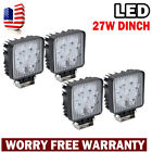 "4PC 27W 4""Flood Work Square LED Light Bar Fog Roof Off Road SUV 4WD ATV UTE LAMP"