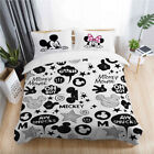 3D Disney Mickey Mouse Love Kid Duvet Cover Set Pillowcase Comforter/Quilt Cover image