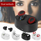 True Wireless Bluetooth Earbuds Earphones Headsets with Charge Box for Trucker