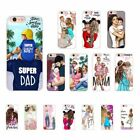 Black Brown Hair Baby Mom Girl Sup Dad Soft case For Iphone 5 6 7 8 X XS MAX XR