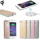 US QI Wireless Charging Receiver Charger Gel Back Case For i Phone 6 7 8 Plus mr