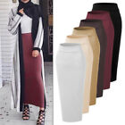 Muslim Thick Skirt Bodycon Slim High Waist Stretch Long Maxi Womens Pencil Skirt