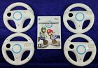 Wii Mario Kart + 1/2/3/4 Official Wheels